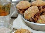 Кексы с орехами и ревенем