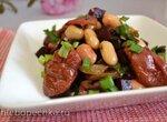 Салат свекольный с фасолью, огурцом, вялеными томатами