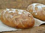 Хлеб на закваске с полисолом и ореховой мукой