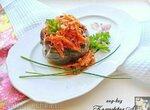 Перец, фаршированный булгуром и грибами (постный)