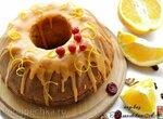 Апельсиновый кекс с оливковым маслом, вяленой клюквой и орехами