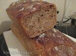 Дарницкий хлеб на закваске с добавками, испечённый в духовке