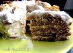 Диетический торт из овсяно-яблочного блина