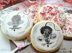 Сахарное печенье с аммонием и королевским айсингом