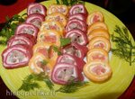 Свекольные и морковные блинчики с начинкой