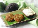 Кето драники с фаршем и авокадо
