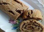 Творожный рулет с шоколадно-ореховой начинкой