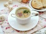 Постный крем-суп из шампиньонов и шпината