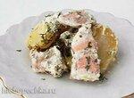 Кета с картофелем в сливочно-горчичном соусе (+видео)