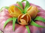 Тюльпаны из шоколада без специального инструмента (+видео)