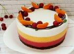 Торт-суфле Летний из взбитого желе
