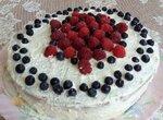 Просто бисквит и на его основе торт с творожным суфле и ягодами (полезное питание)