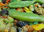 Аджапсандал по-деревенски на чугунной сковороде, овощи только с грядки (+видео)