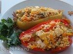 Фаршированный перец с овощами и кускусом (+видео)