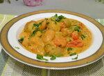 Крошка-картошка с фасолью под сливочным соусом