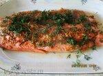 Красная рыба с дижонской горчицей и медом