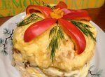 Закусочный тортик Рождественская звезда