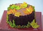 Торт Осенний пенек - сборка и украшение (+видео)