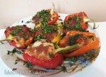 Перец, фаршированный креветками и сыром