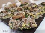 Мясные пирожные с грибным кремом