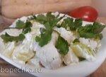 Салат из цветной капусты и кабачков