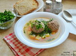 Суп с фаршированными фрикадельками Кололак (+видео)