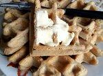 Толстые, постные, цельнозерновые хлебные вафли (вафельница переворотная Травола)