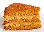 Карамельно-яблочный торт (+видео)