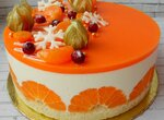 Торт Мандариновый чизкейк