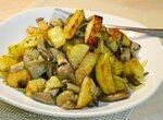 Картофель жареный с вёшенками