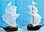 Кораблик для торта с парусами из рисовой бумаги (+видео)