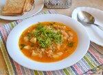 Крчик – постный суп с квашеной капустой и пшеницей (+видео)