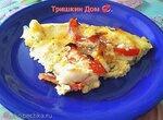 Рыба в омлете с помидорами и сыром в Multicuisine DeLonghi