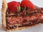 Торт шоколадный с малиновой начинкой (+видео)