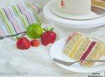 Белый торт Клубника-лайм (+видео)