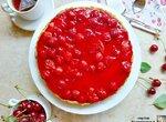 Тарт с заварным кремом и вишневым желе (+видео)