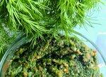 Аджика-приправа-соус из укропных стеблей