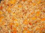 Пшеничная каша с луком и морковью в скороварке Unit