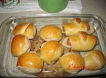 Сосиски в тесте + булочки