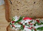 Пшенично-ржаной хлеб на йогурте (хлебопечка)