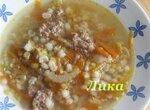 Суп чечевичный с перловкой и сельдереем в мультиварке
