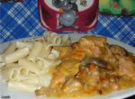 Скоблянка (мясо с копчёностями и с грибами) в мультиварке Panasonic