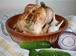 Курица, запеченная с чесноком и лавровым листом
