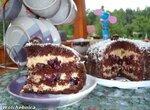 Торт Пьяная вишня под карамельным соусом
