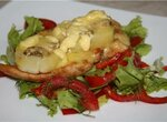 Филе, запеченное с картофелем и грибами