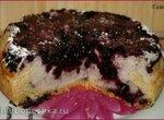 Пирог c творогом и черникой (духовка, мультиварка)