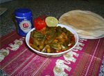 Овощное рагу с окрой (бамией)