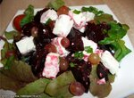 Салат из свеклы с сыром (брынзой)