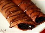 Блинчики шоколадные с черникой