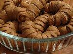 Рогалики творожно-кофейные с миндалём